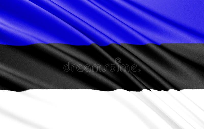 Vlag van Estland royalty-vrije illustratie