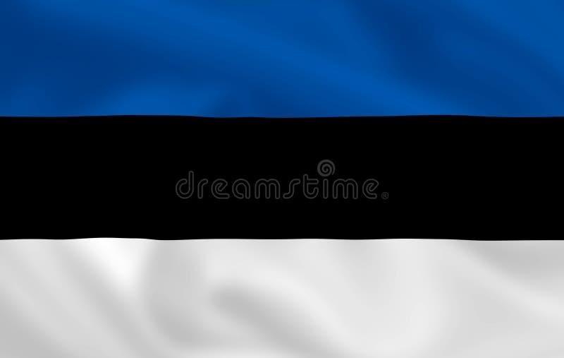 Vlag van Estland vector illustratie