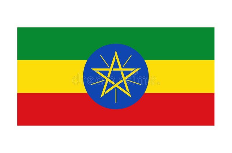 Vlag van Ethiopië vector illustratie
