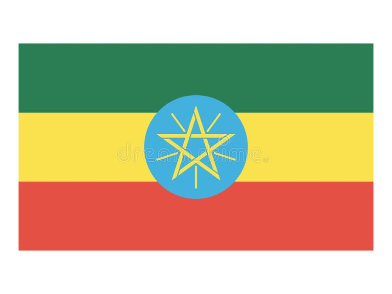 Vlag van Ethiopië royalty-vrije illustratie