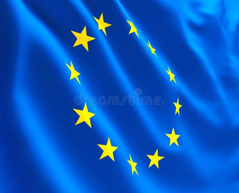 Vlag van Europa vector illustratie