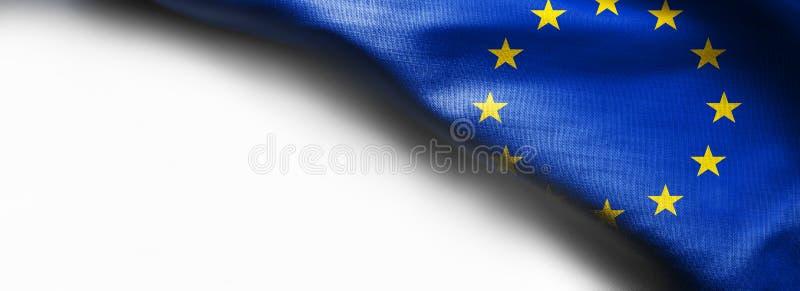 Vlag van Europese Unie op witte achtergrond royalty-vrije stock fotografie