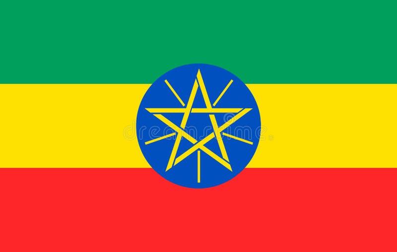 Vlag van van Federale Democratische Republiek Ethiopië royalty-vrije illustratie