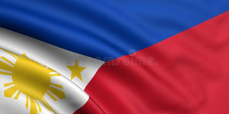 Vlag van Filippijnen vector illustratie
