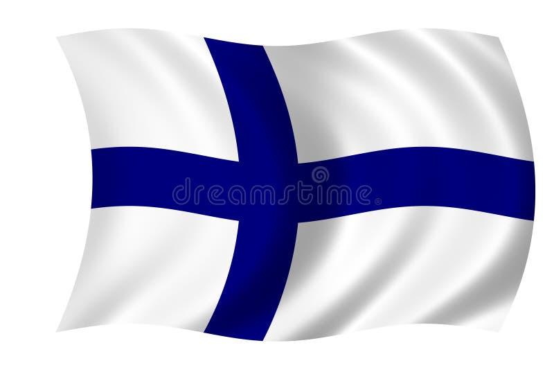 Vlag van Finland royalty-vrije illustratie