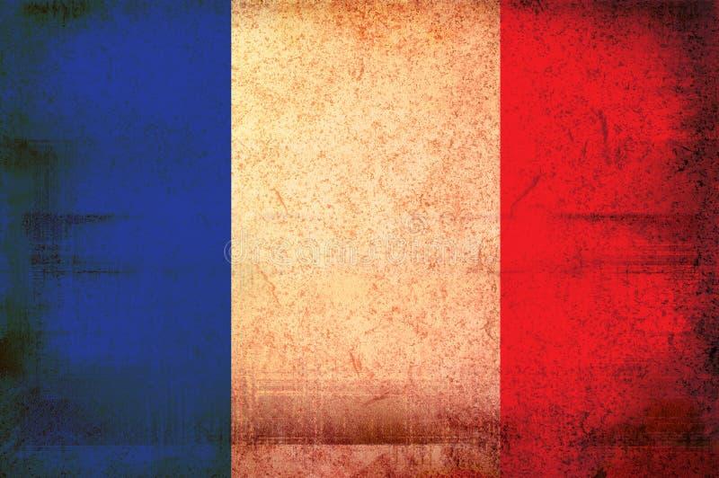 Vlag van Frankrijk stock illustratie