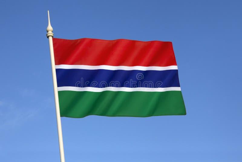 Vlag van Gambia stock fotografie