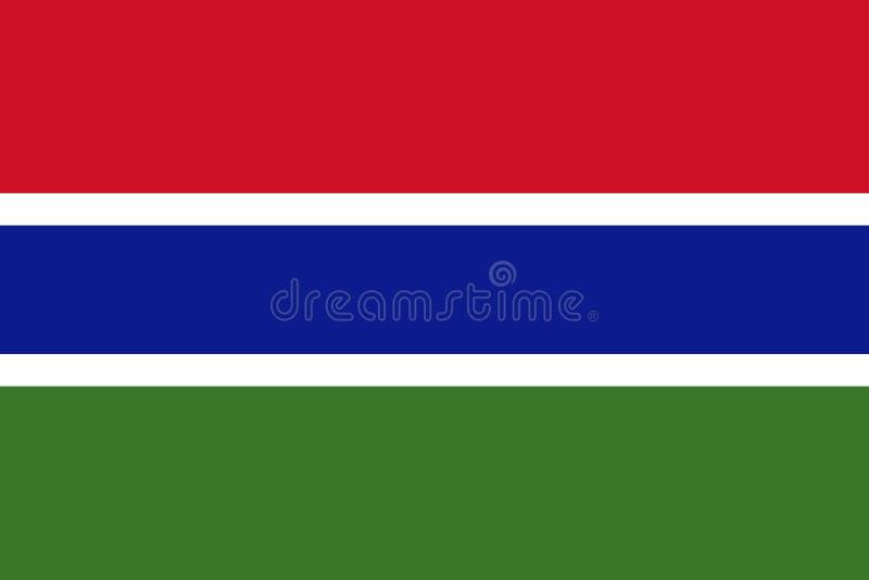 Vlag van Gambia vector illustratie