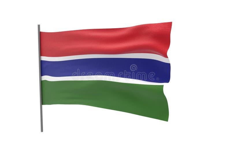 Vlag van Gambia royalty-vrije illustratie