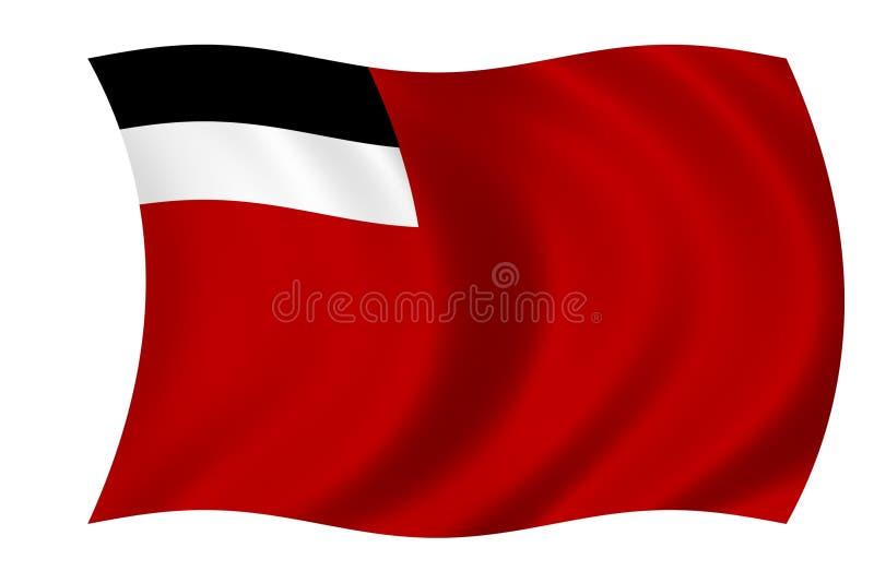Vlag van Georgië vector illustratie