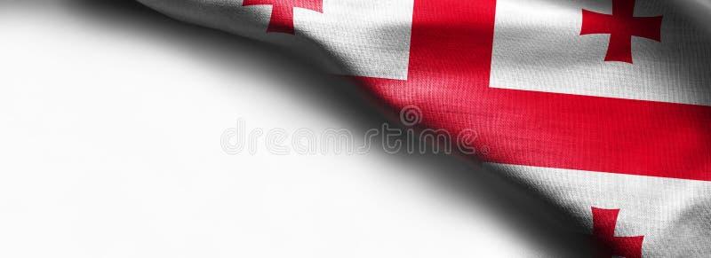 Vlag van Georgië op wit wordt geïsoleerd dat royalty-vrije stock foto's