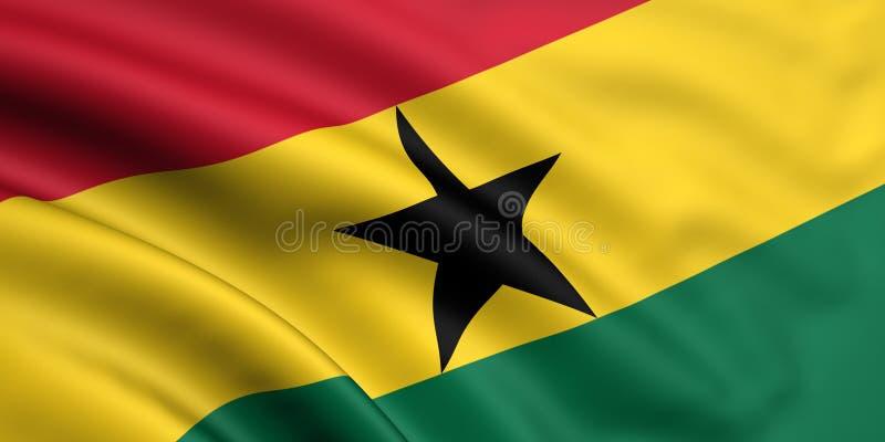 Vlag van Ghana vector illustratie