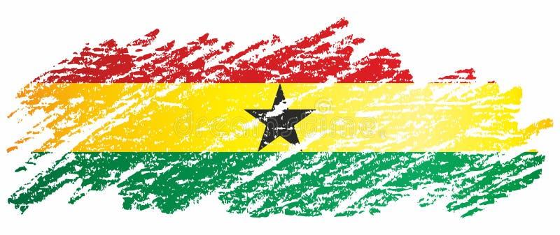 Vlag van Ghana, de Ghanese Republiek Malplaatje voor toekenningsontwerp, een officieel document met de vlag van Ghana stock illustratie