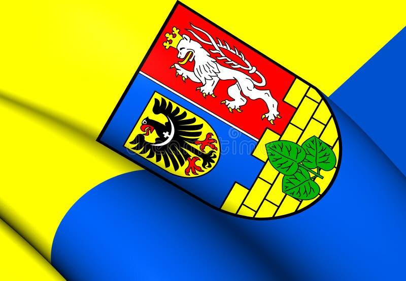 Vlag van Gorlitz-District, Duitsland vector illustratie