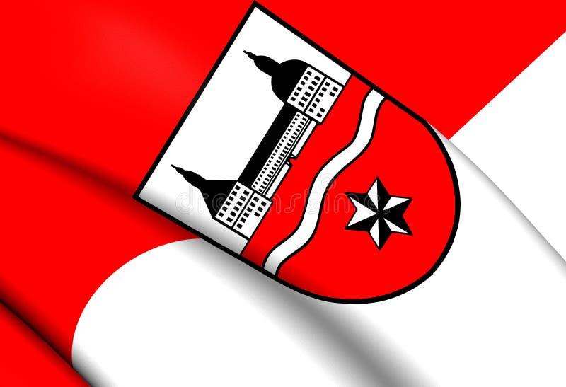 Vlag van Gotha-District, Duitsland stock illustratie