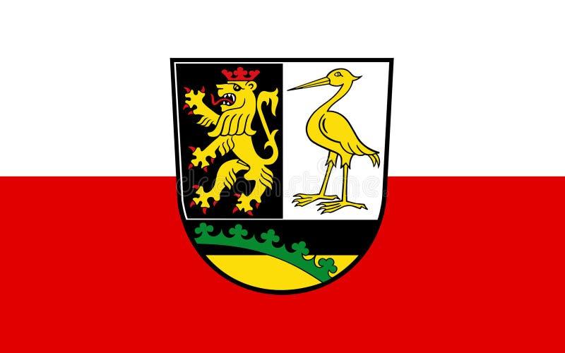 Vlag van Greiz in Thuringia, Duitsland royalty-vrije illustratie