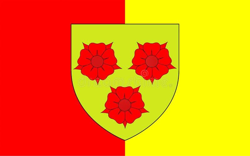 Vlag van Grenoble, Frankrijk royalty-vrije stock afbeeldingen
