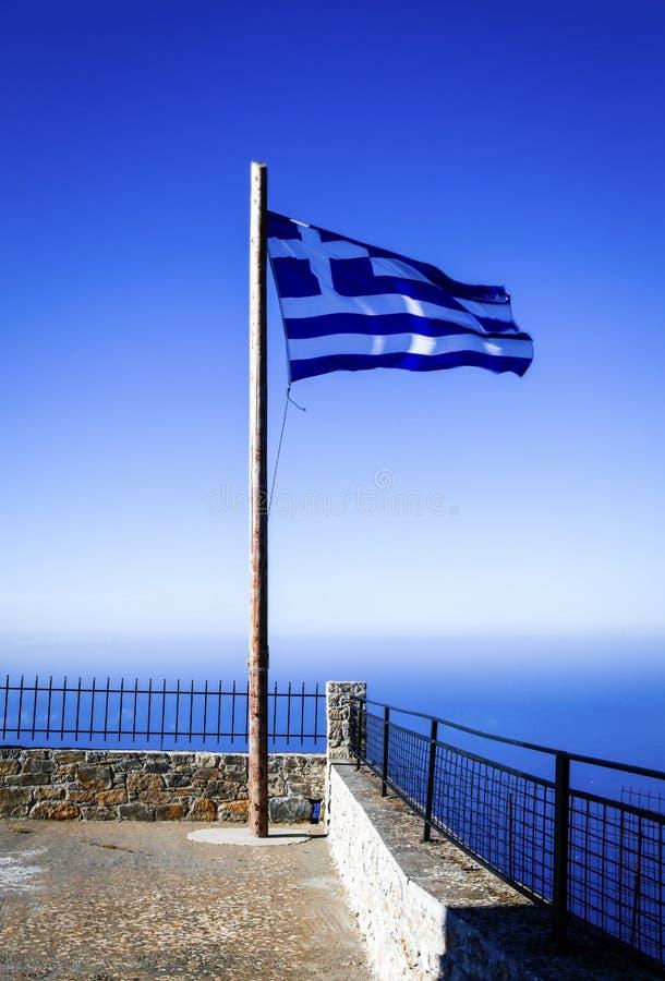 Vlag van Griekenland stock afbeeldingen