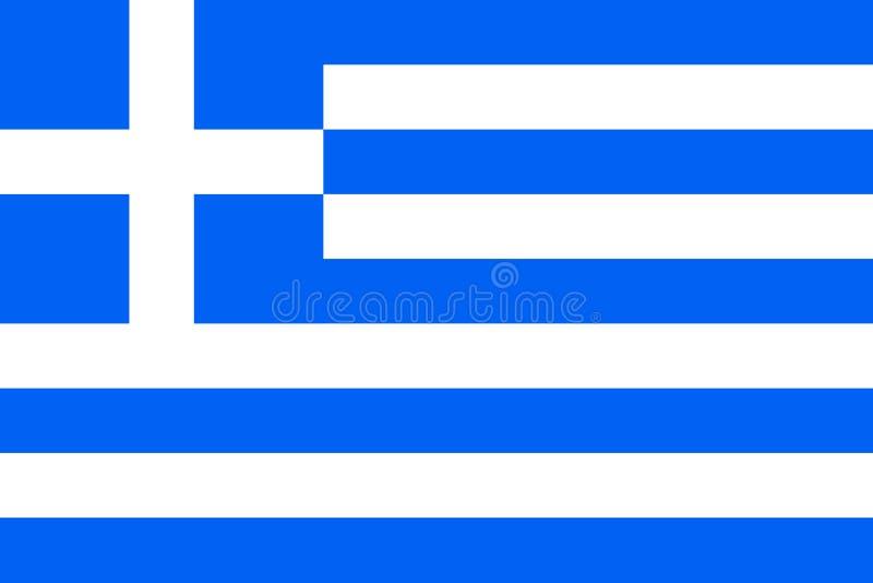 Vlag van Griekenland royalty-vrije illustratie