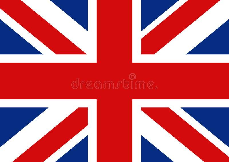 Vlag van Groot-Brittannië Officiële Britse vlag van het Verenigd Koninkrijk vector illustratie