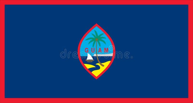 Vlag van Guam vector illustratie