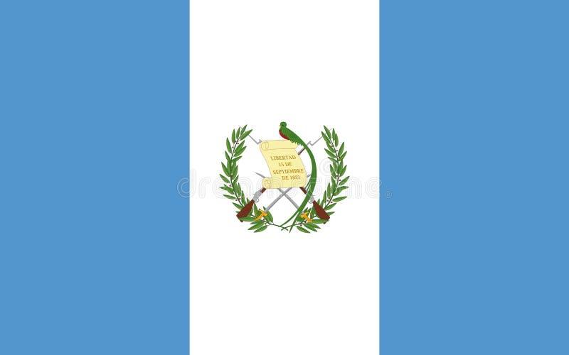 Vlag van Guatemala vector illustratie