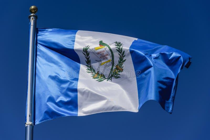 Vlag van Guatemala stock fotografie