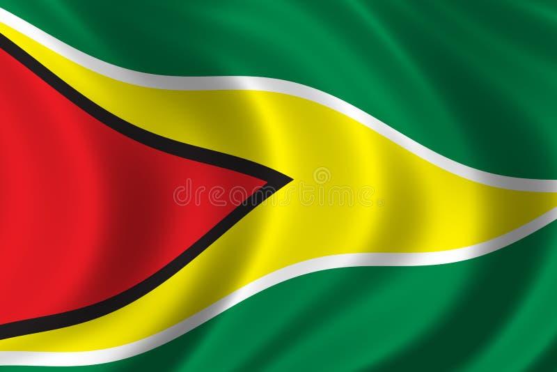 Vlag van Guyana stock illustratie