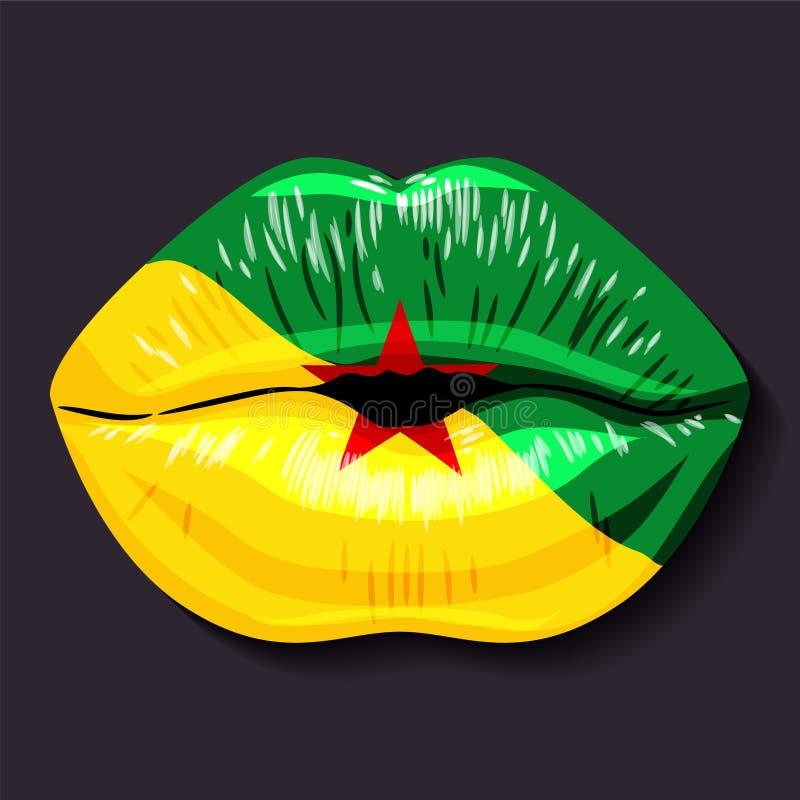 Vlag van Guyana royalty-vrije illustratie