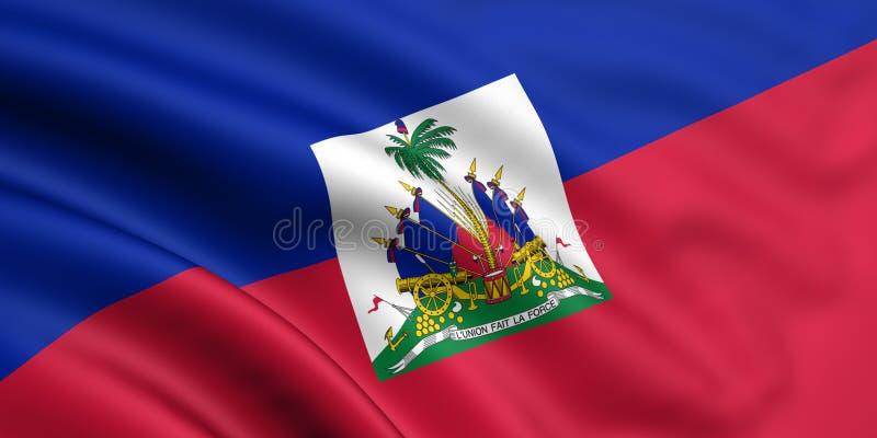 Vlag van Haïti stock illustratie