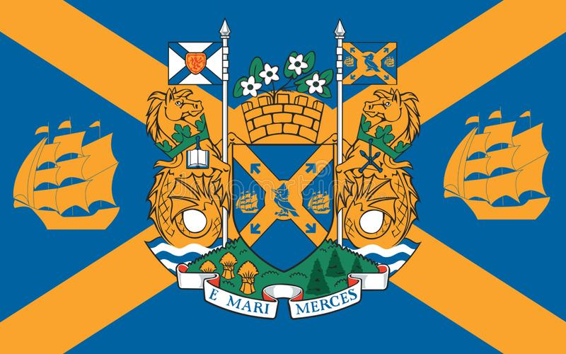 Vlag van Halifax in Nieuw Schotland, Canada royalty-vrije illustratie