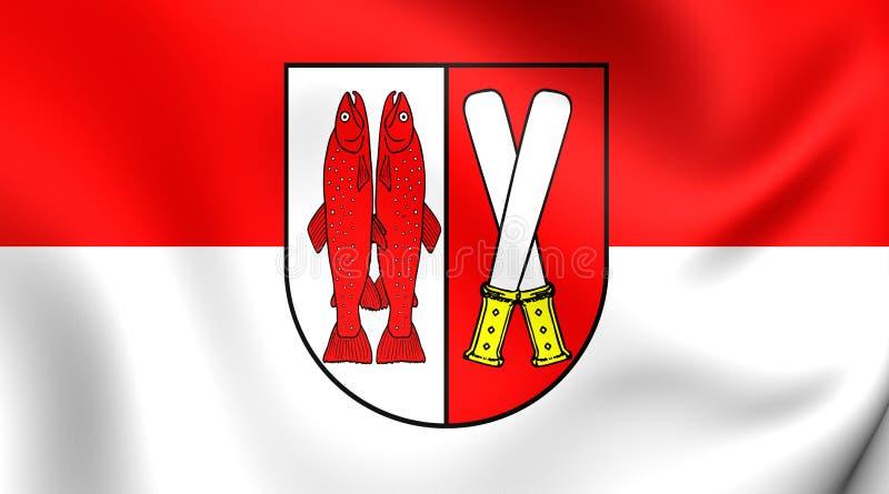 Vlag van Harz-District, Duitsland royalty-vrije illustratie