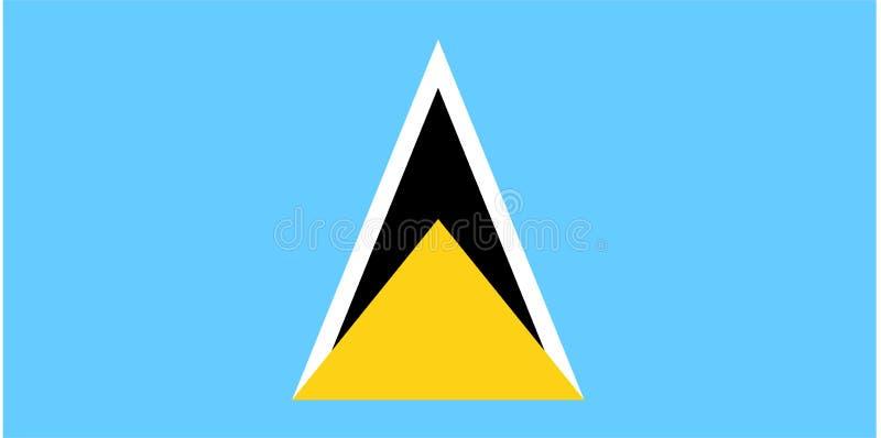 Vlag van Heilige Lucia royalty-vrije illustratie