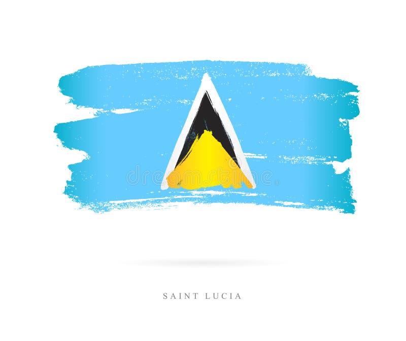 Vlag van Heilige Lucia Abstract concept royalty-vrije illustratie