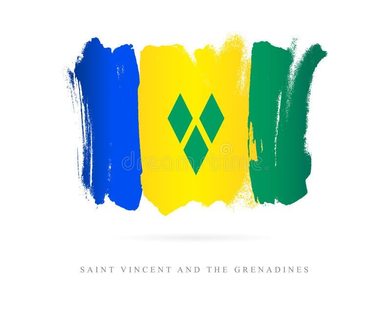Vlag van Heilige Vincent en de Grenadines royalty-vrije illustratie