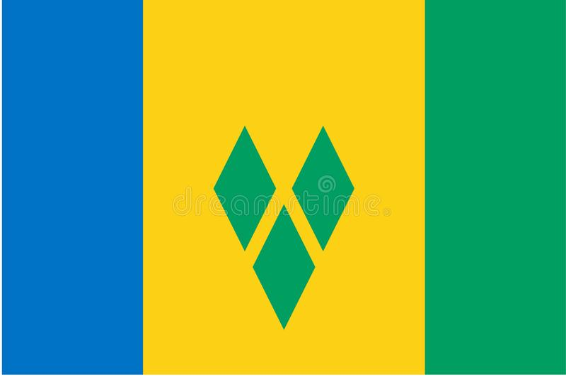 Vlag van Heilige Vincent en de Grenadines vector illustratie