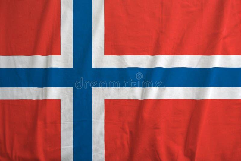 Vlag van het Golven van Noorwegen royalty-vrije stock afbeelding