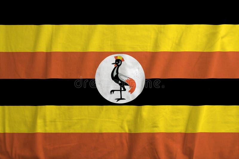 Vlag van het golven van Oeganda stock afbeeldingen