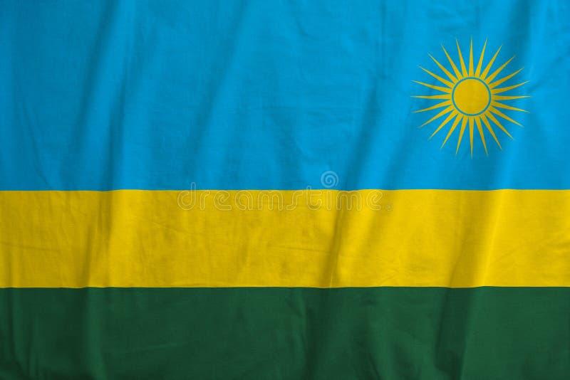 Vlag van het golven van Rwanda royalty-vrije stock afbeelding