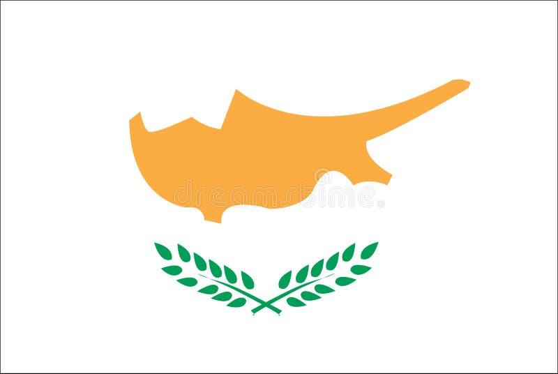 Vlag van het land Cyprus van Europa royalty-vrije illustratie