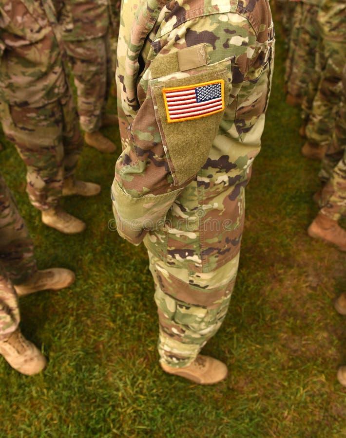 Vlag van het het leger de eenvormige flard van de V.S. Ons leger stock afbeeldingen