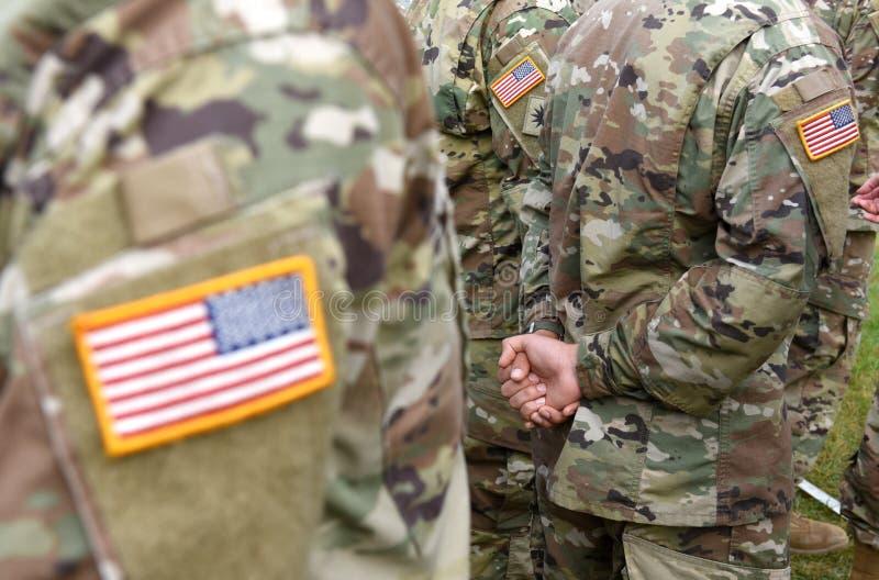 Vlag van het het leger de eenvormige flard van de V.S. Ons leger royalty-vrije stock afbeeldingen
