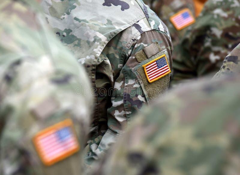 Vlag van het het leger de eenvormige flard van de V.S. Ons leger royalty-vrije stock foto