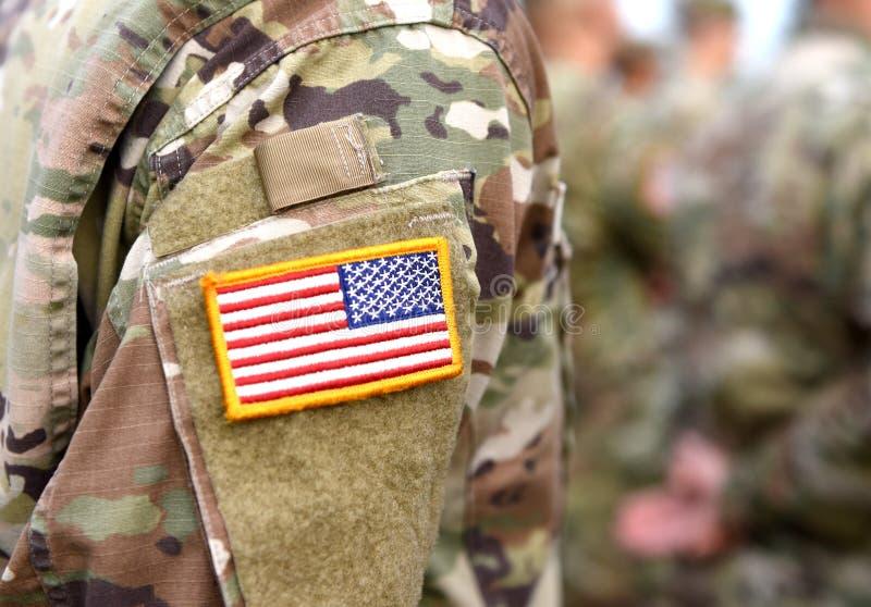 Vlag van het het leger de eenvormige flard van de V.S. Ons leger royalty-vrije stock fotografie