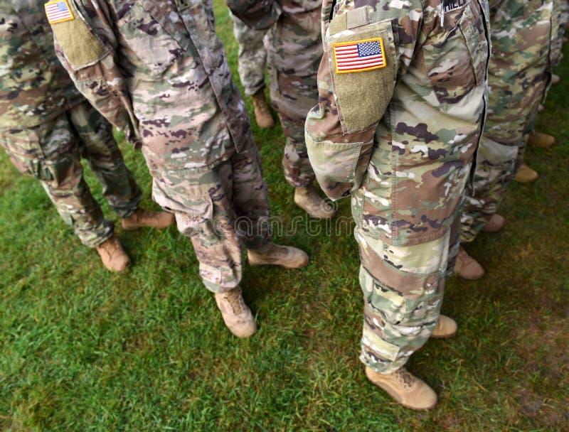 Vlag van het het leger de eenvormige flard van de V.S. Ons leger royalty-vrije stock afbeelding