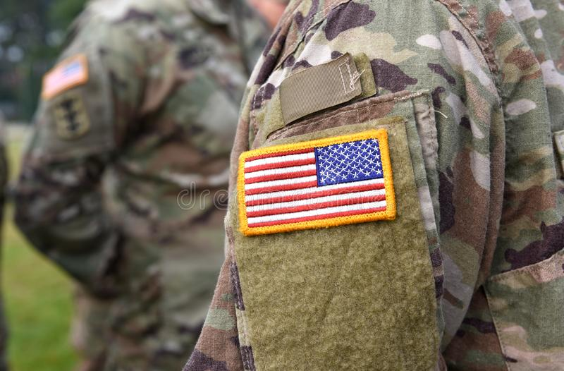 Vlag van het het leger de eenvormige flard van de V.S. Ons leger royalty-vrije stock foto's