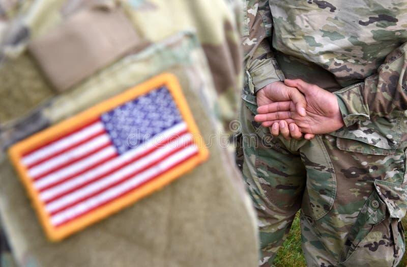 Vlag van het het leger de eenvormige flard van de V.S. Ons leger stock afbeelding