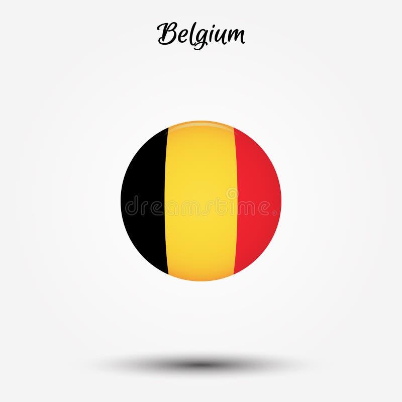 Vlag van het pictogram van België stock illustratie