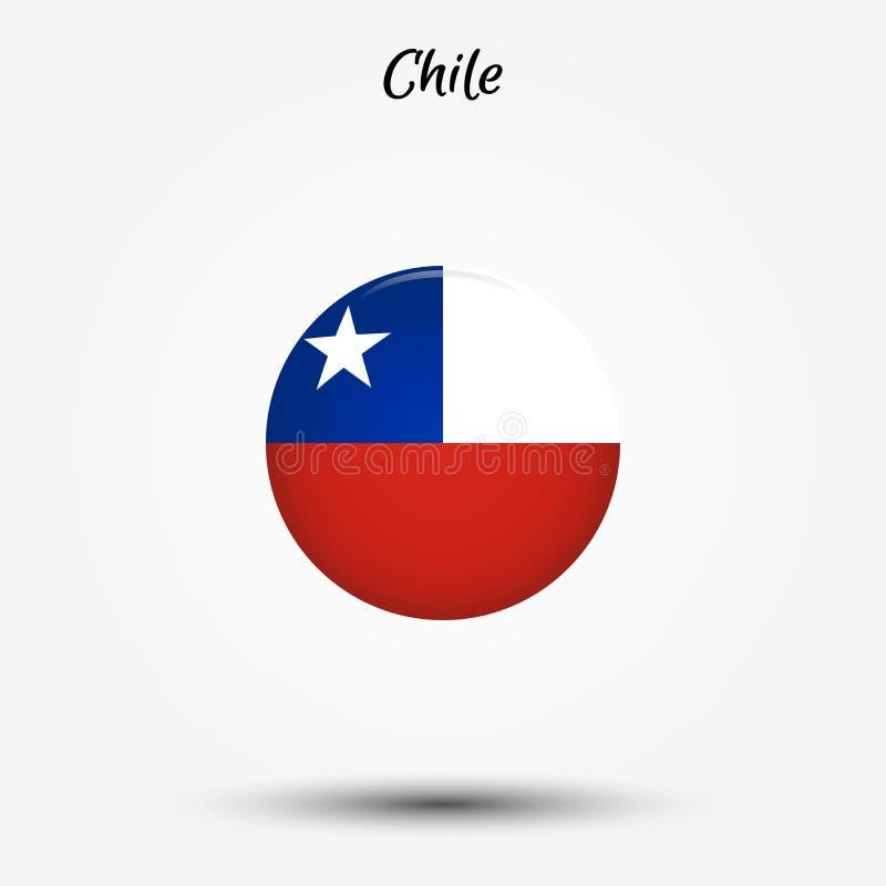 Vlag van het pictogram van Chili stock illustratie