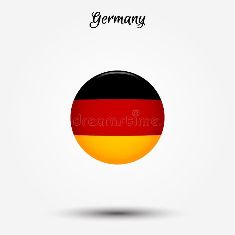 Vlag van het pictogram van Duitsland vector illustratie